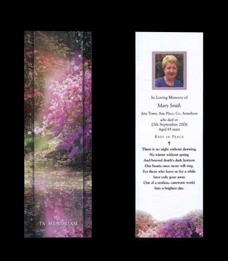 in memoriam cards template - memoriam memorial cards funeral cards rememberance cards